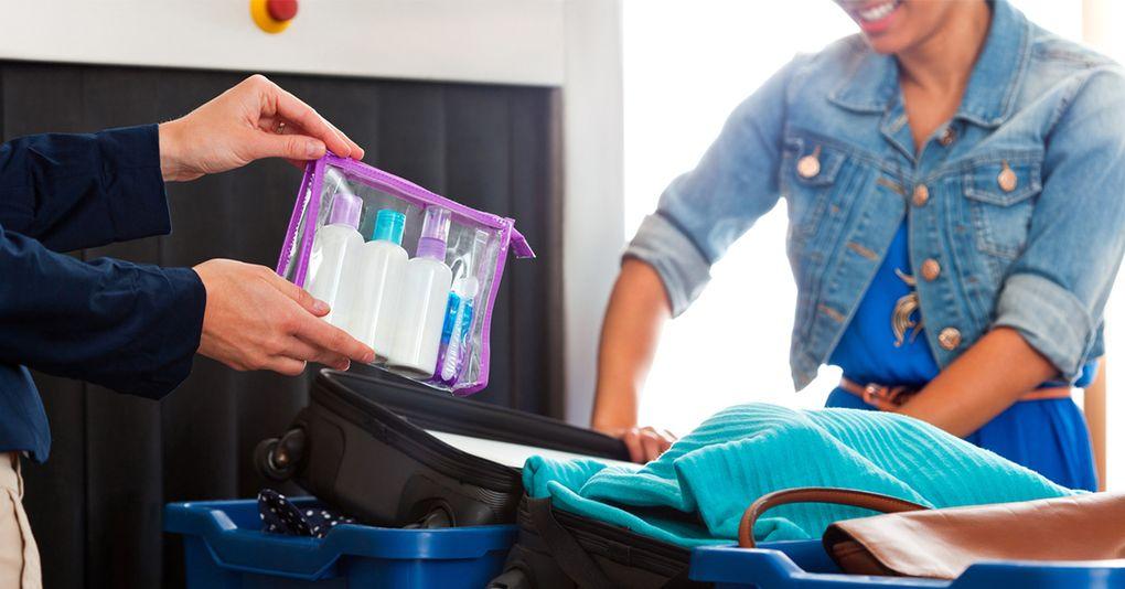 handbagage vätska påse