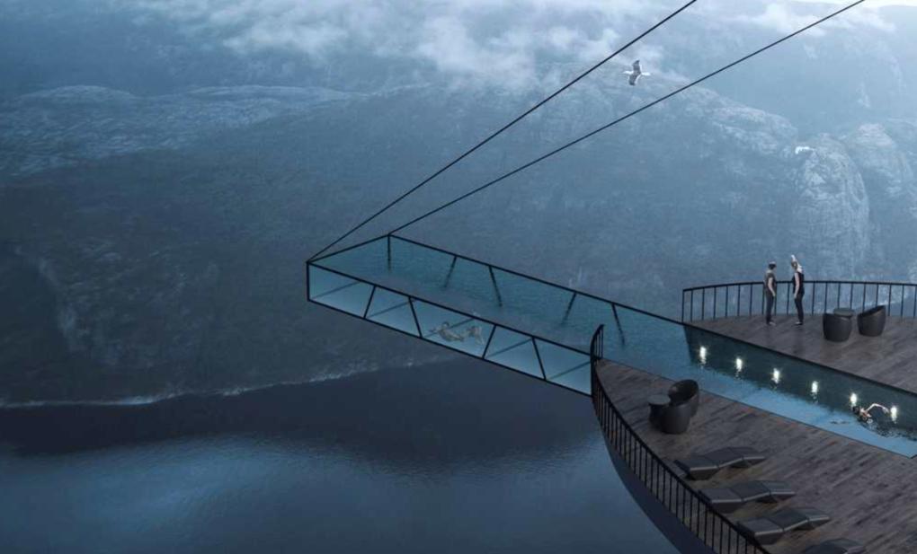 Nytt hotellkoncept – designat för att hänga på en klippa