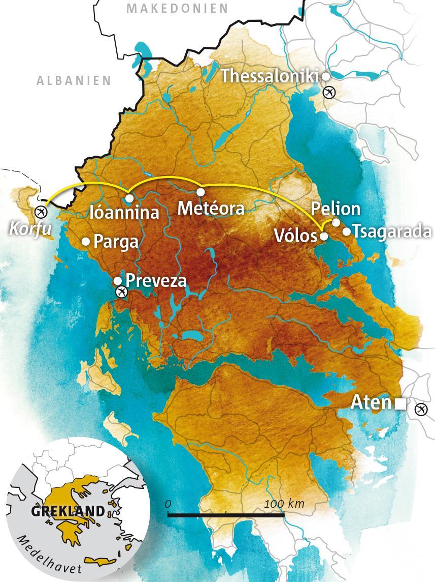 Karta Europa Grekland.Roadtrip Fran Parga Till Pelion Vagabond