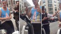 Här försöker den fräcka cykeltaxiföraren i London blåsa turisterna på pengar