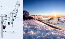 6 udda platser att åka skidor på