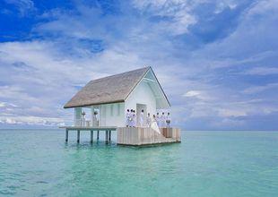 Den här paviljongen i Maldiverna tar ditt bröllop till en helt ny nivå