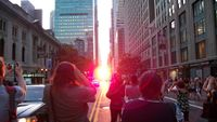 Makalösa ljusfenomenet i New York – sker endast två gånger om året