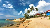 Turister i Thailand varnas för maneter