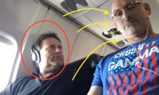 Snor tillbaka armstödet – flyggrannens reaktion är obetalbar