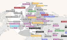 Här är kartan som visar vad världens nationer är bäst på
