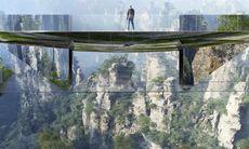 Nu byggs ännu en superläskig glasbro i Kina – och den här är osynlig