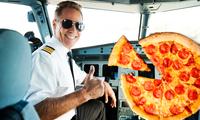 Hungriga passagerare fick hjälp av mystisk pilot – beställde pizza till hela planet