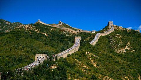 Kinesiska muren från månen