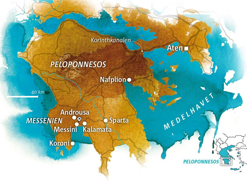 Karta Aten Grekland.Grekland Mellan Himmel Och Hav I Kalamata Vagabond