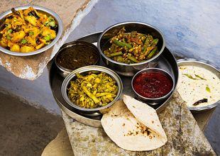 Vegetarisk matfrossa i Jaipur