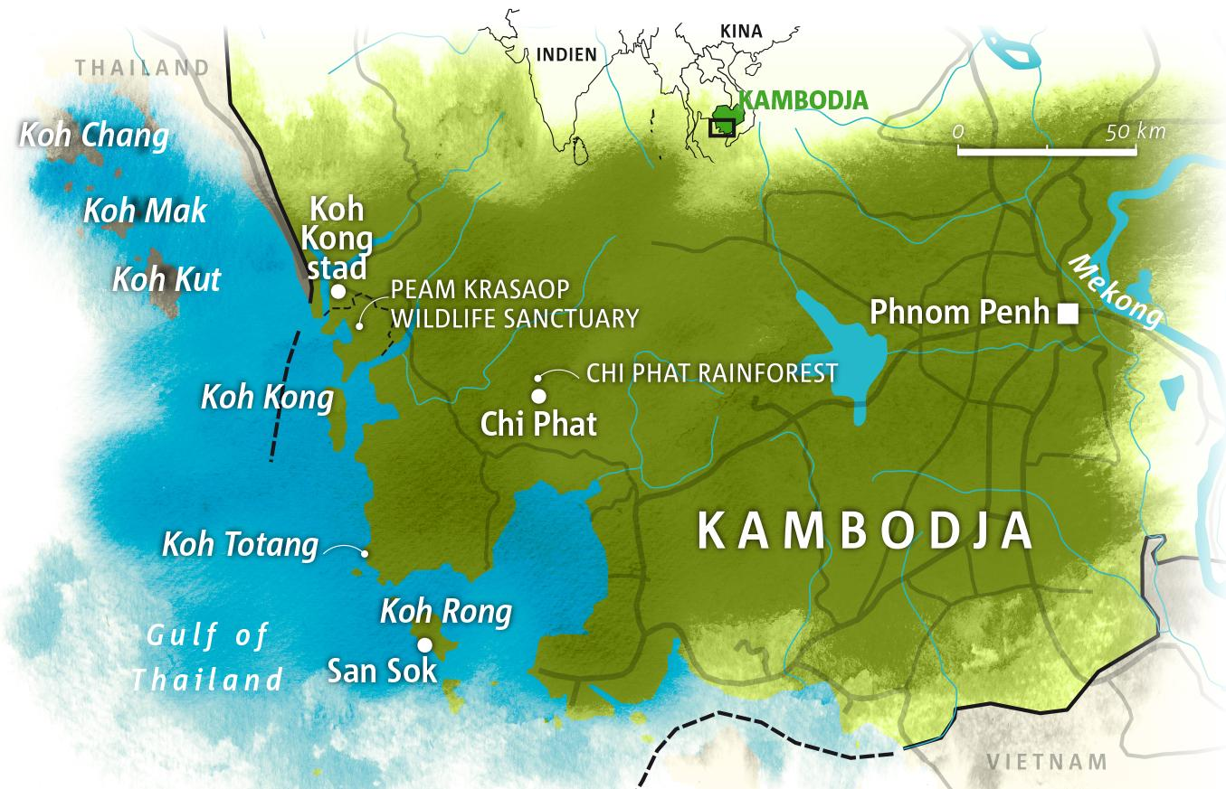 Karta Indien Thailand.Kambodja Upptack Okanda Paradison Koh Rong Vagabond