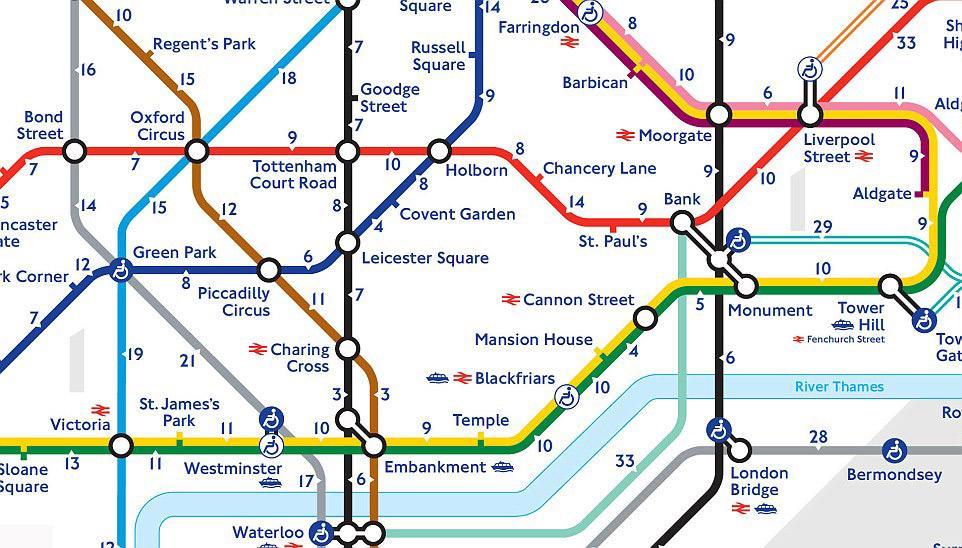 tunnelbana karta över stockholm Promenera eller ta tunnelbanan i London? Ny karta hjälper dig att  tunnelbana karta över stockholm
