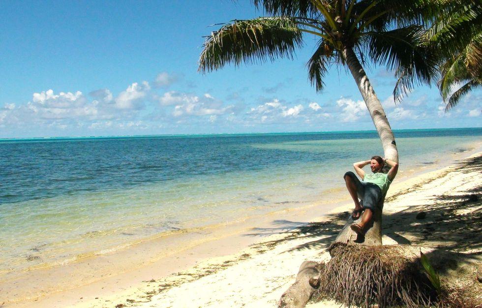Eddie på ön Yap i Mikronesien.