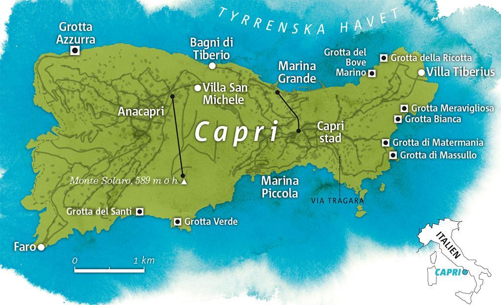 capri italien karta Guide till Capri – Vagabond capri italien karta